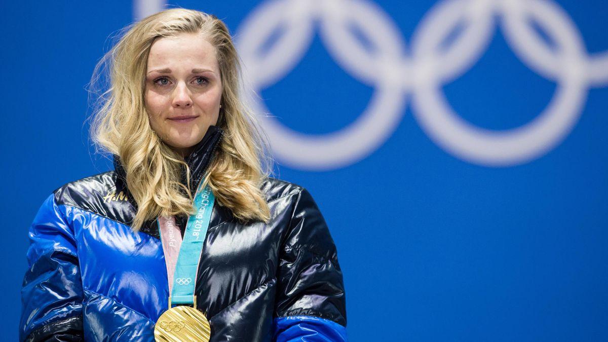 Stina Nilsson tårar guldmedalj