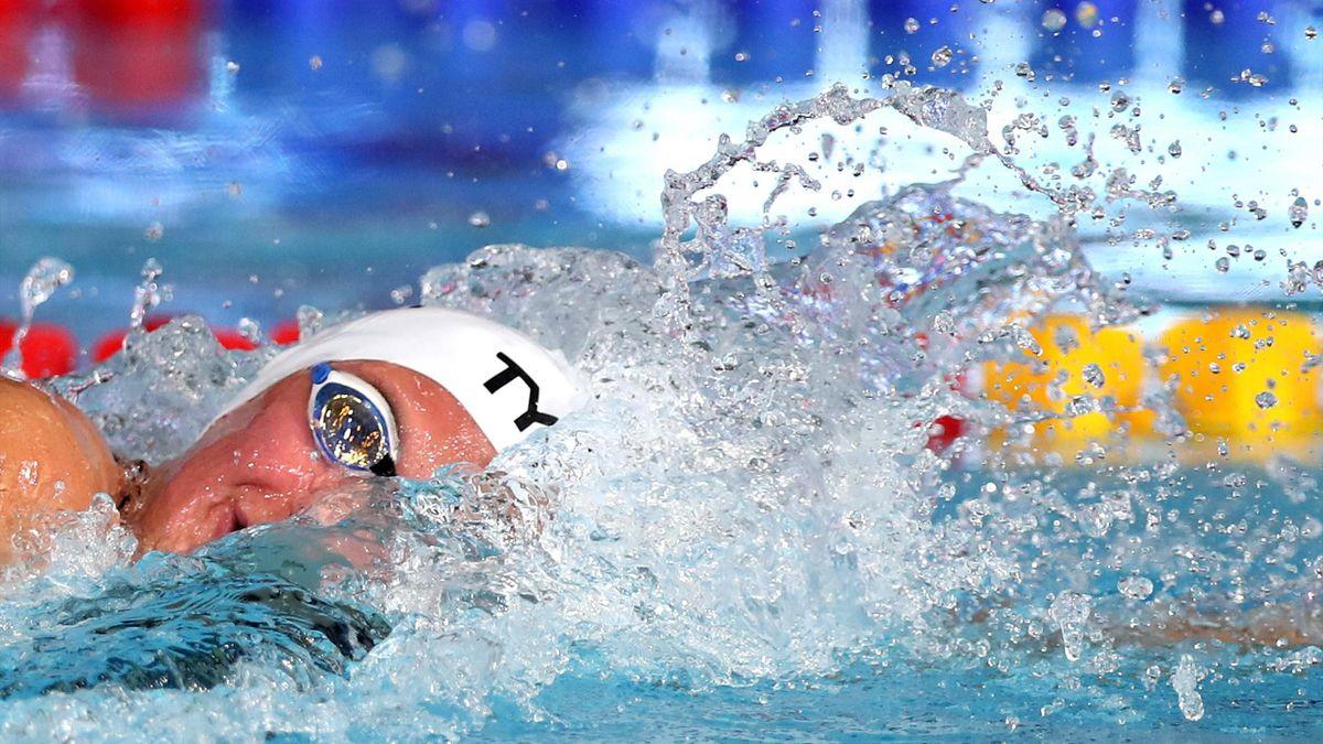 Charlotte Bonnet aux Championnats d'Europe 2018 de natation