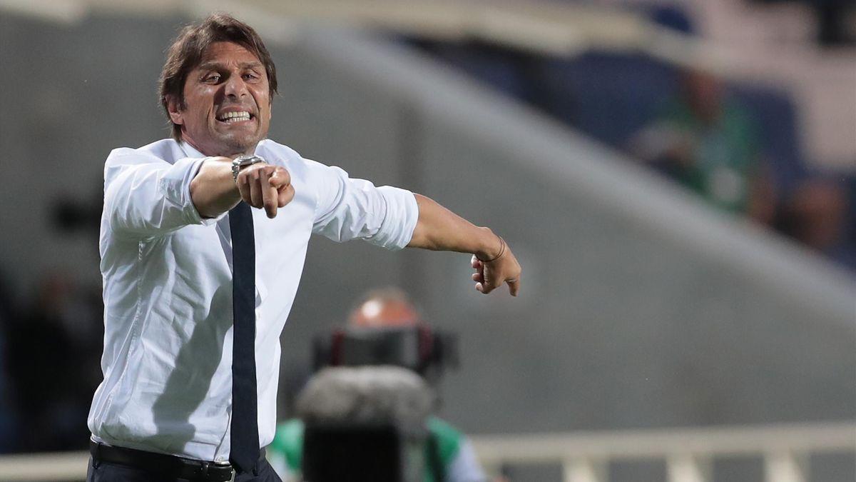 Antonio Conte, entraîneur de l'Inter, lors de la rencontre face à l'Atalanta, le 1er août 2020