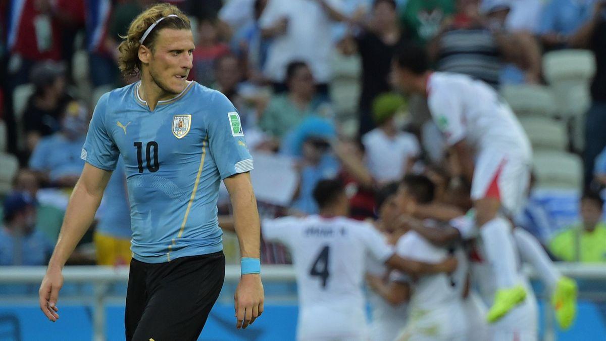 Diego Forlan et l'Uruguay ont raté leur entrée en lice au Brésil