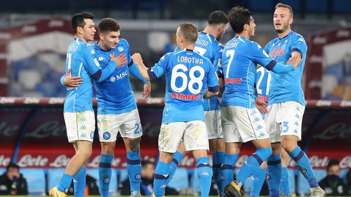 Lozano, Di Lorenzo - Napoli-Empoli - Coppa Italia 2020/2021 - Getty Images