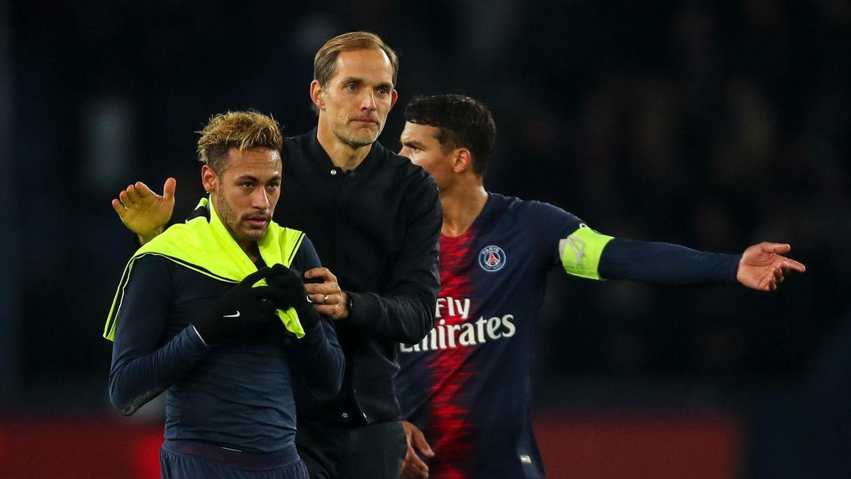 PSG-Trainer Thomas Tuchel mit Neymar