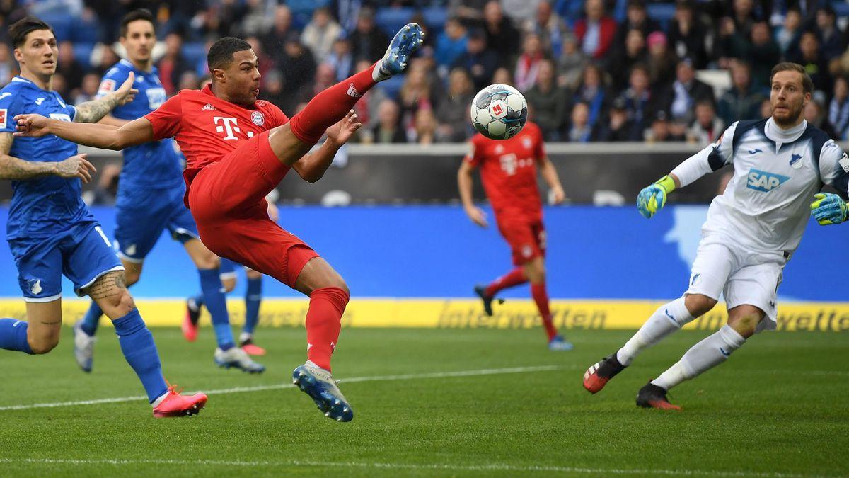 Serge Gnabry (FC Bayern München) beim 1:0 gegen 1899 Hoffenheim