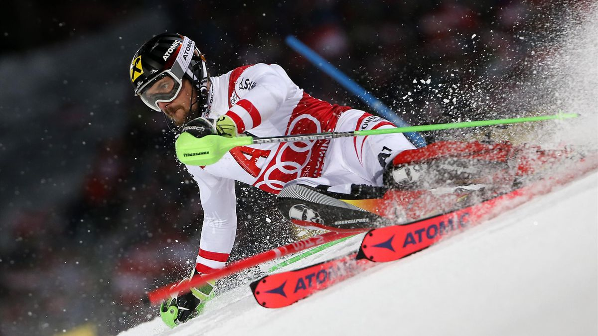 Marcel Hirscher lors du slalom de Schladming.