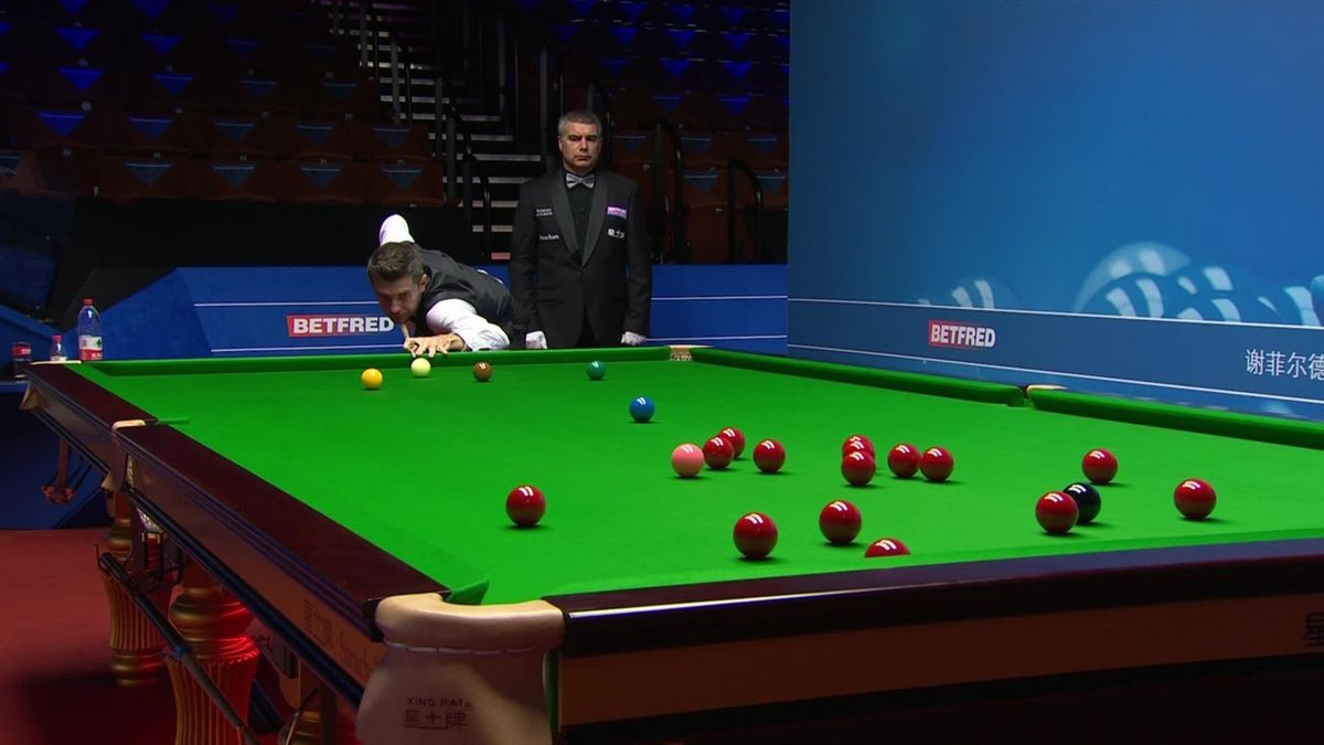 Snooker World Championship: Mark Shelby long shot on the red against Neil Robertson