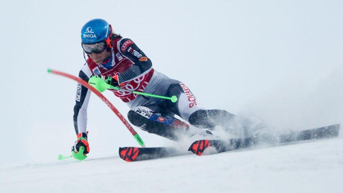 Petra Vlhova lors de la 1ere manche du slalom de Levi, le 22 novembre