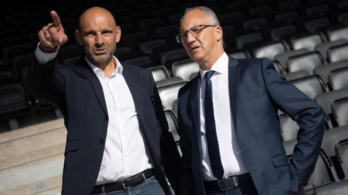 Gerald Baticle et Said Chabane, l'entraîneur et le président du SCO Angers.