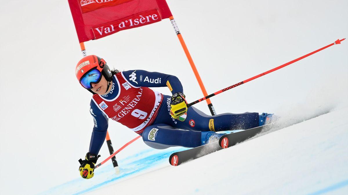 Federica Brignone terza nel SuperG di Val d'Isère