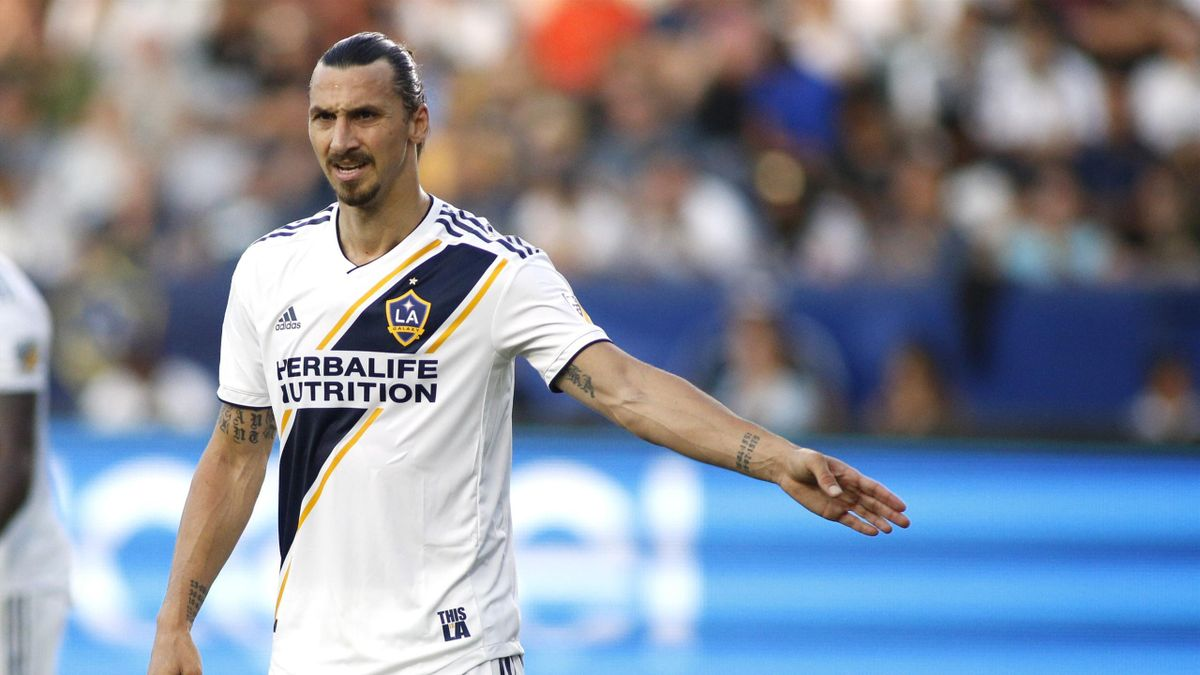 Zlatan Ibrahimovic avec le maillot du Los Angeles Galaxy / MLS
