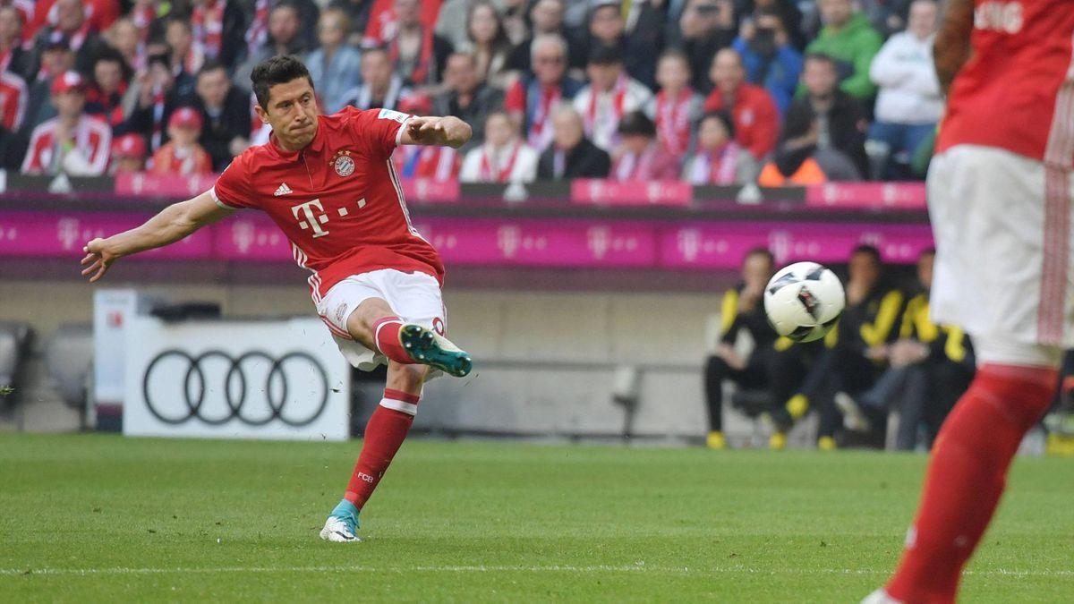 Robert Lewandowski avec le Bayern Munich en Bundesliga