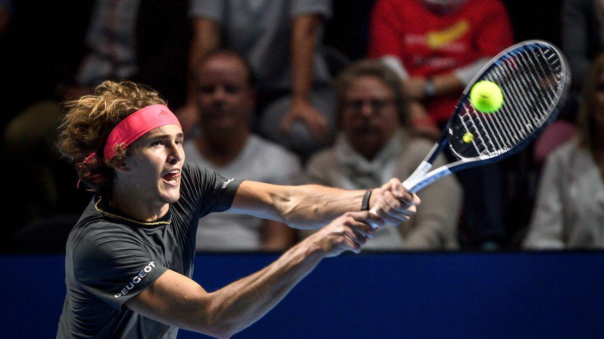 Alexander Zverev lors du tournoi ATP de Bâle