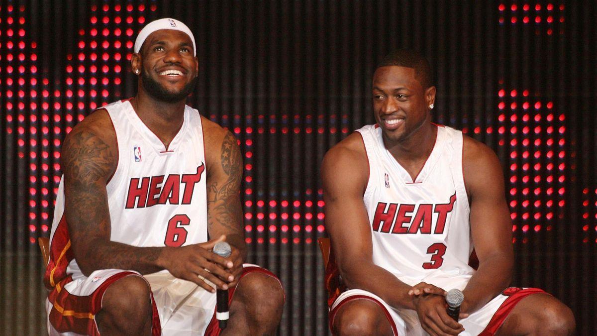 LeBron James et Dwyane Wade sous le maillot du Miami Heat