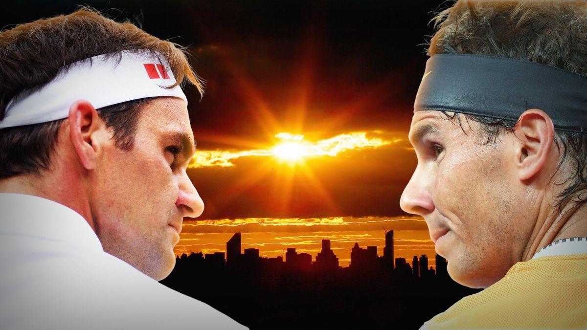 Roger Federer şi Rafael Nadal, doi mari campioni ai tenisului