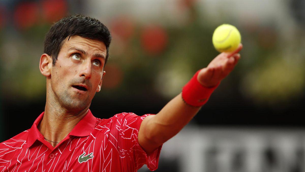Novak Djokovic à Rome en 2020