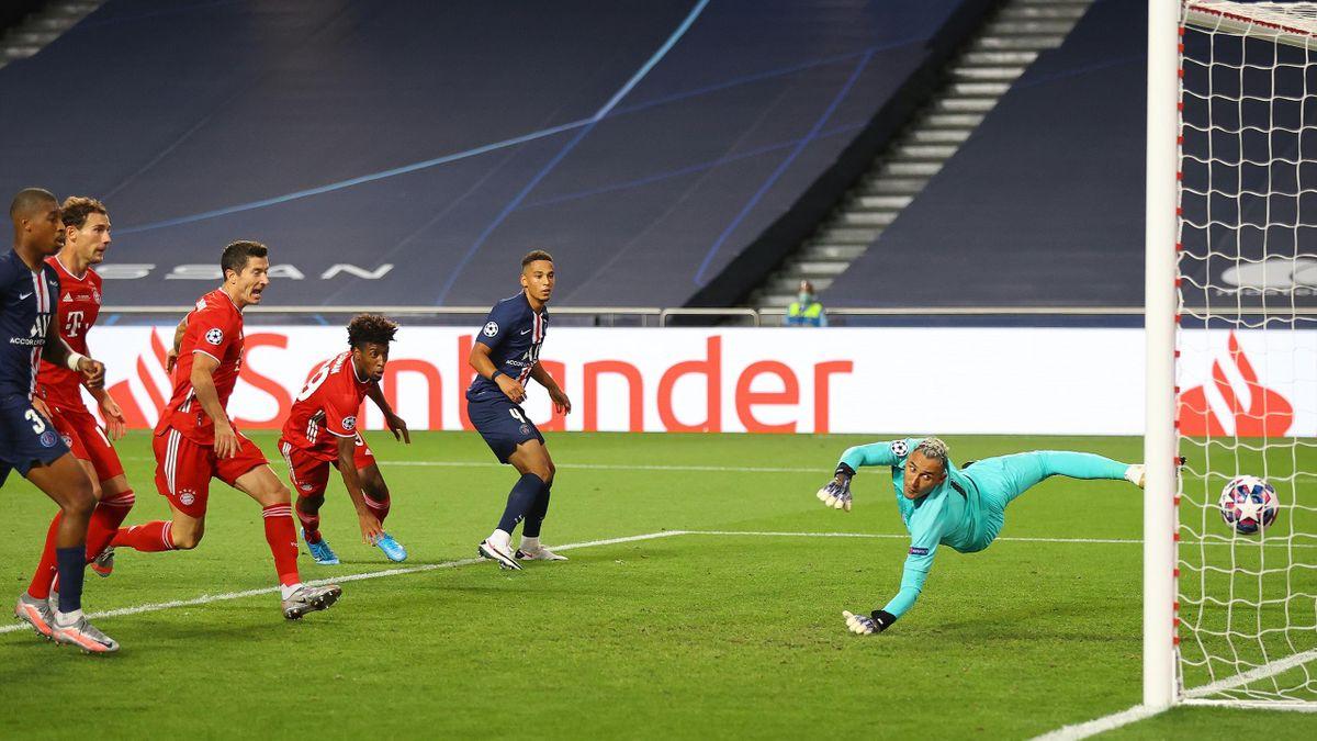 Kingsley Coman buteur pour le Bayern Munich contre le PSG en finale de la Ligue des champions, 2020