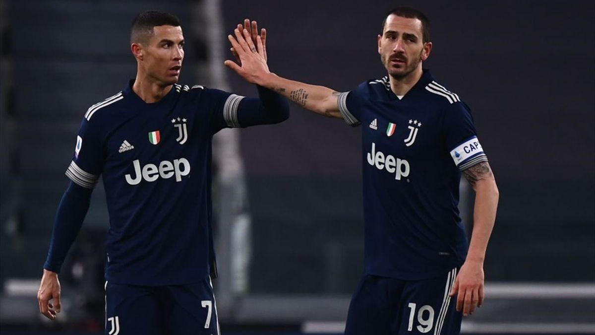 Cristiano Ronaldo, Bonucci - Juventus-Sassuolo - Serie A 2020/2021 - Getty Images