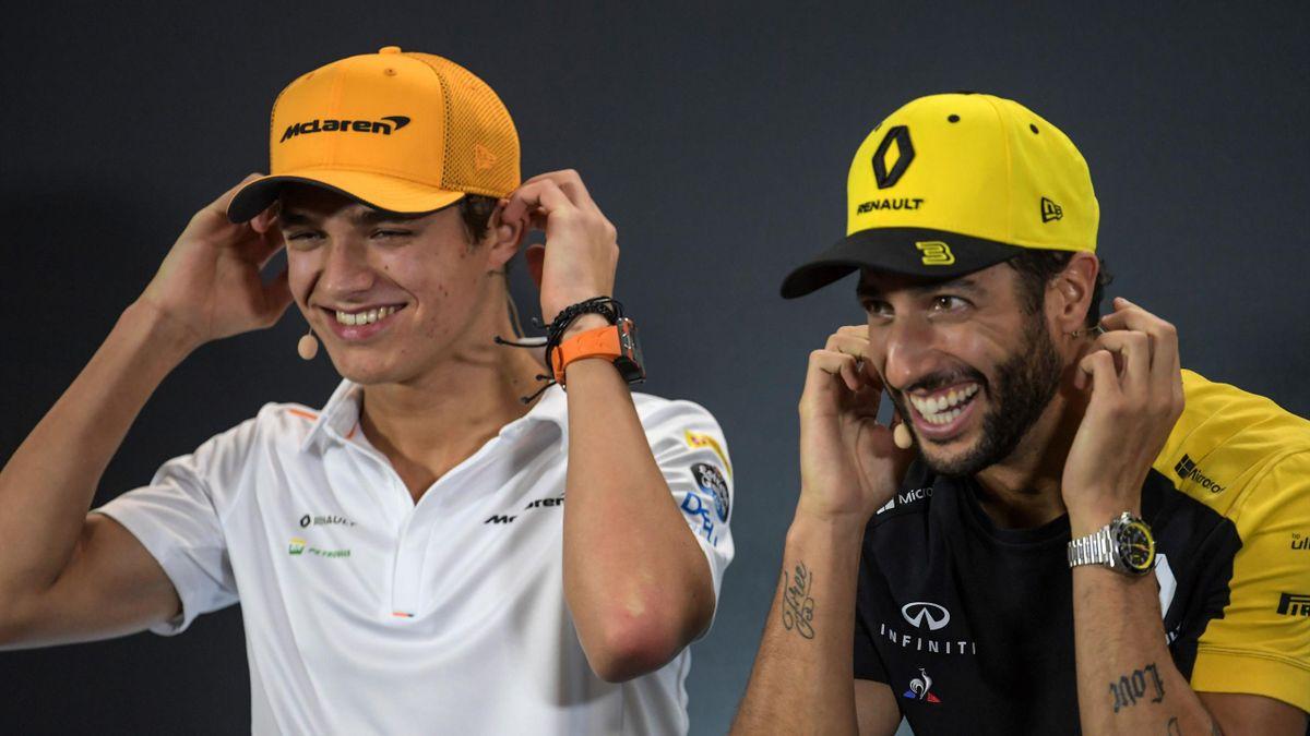 Verstehen sich prächtig und fahren ab 2021 gemeinsam für McLaren: Lando Norris (links) und Daniel Ricciardo