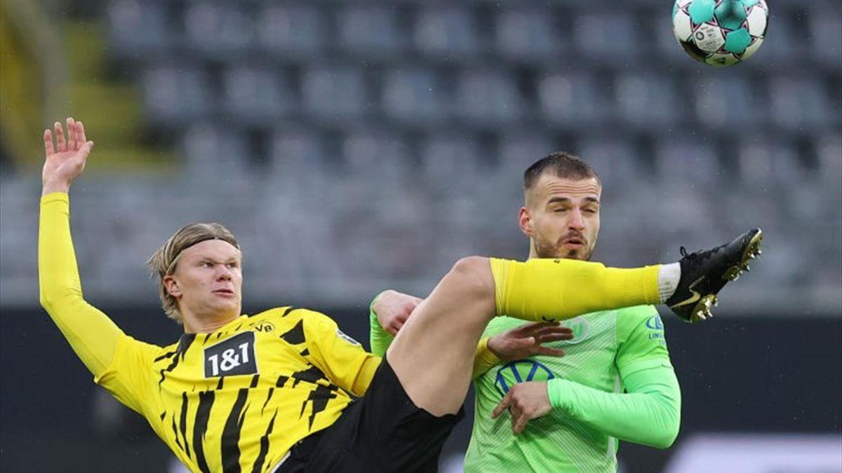 Erling Haaland feierte gegen den VfL Wolfsburg sein Comeback für den BVB
