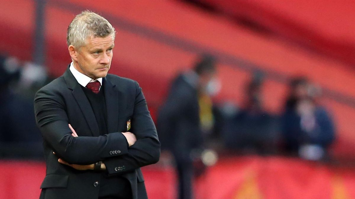 Manchester United's Norwegian manager Ole Gunnar Solskjaer during the English Premier League football match between Manchester United and Tottenham Hotspur at Old Trafford