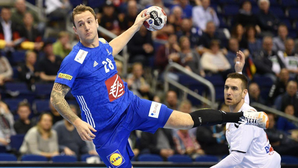 Valentin Porte lors de France - Serbie au Mondial 2019