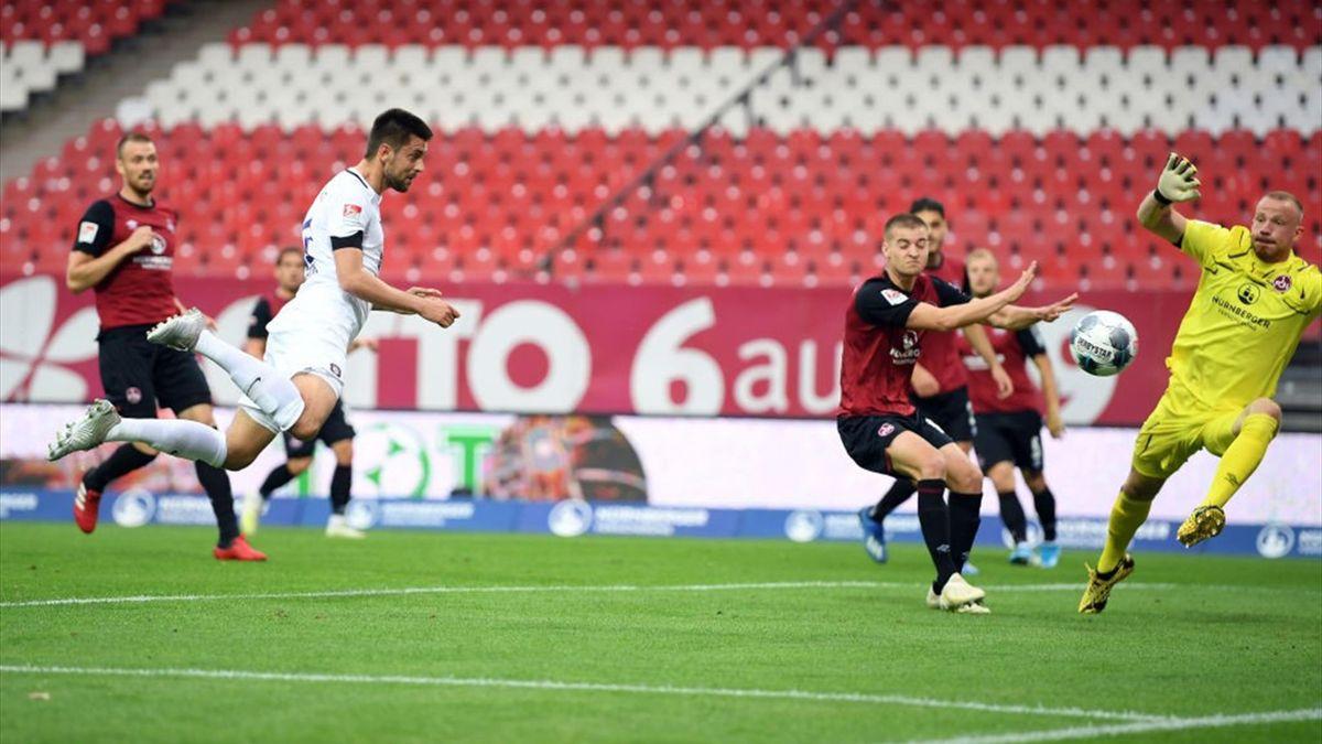 Dmitrij Nazarov a deschis scorul în meciul dintre Nurnberg și Aue