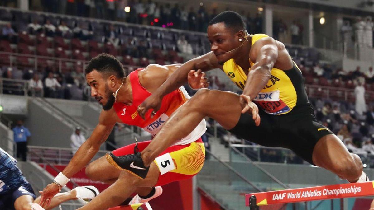 Orlando Ortega y McLeod, final 110 m vallas de Doha 2019