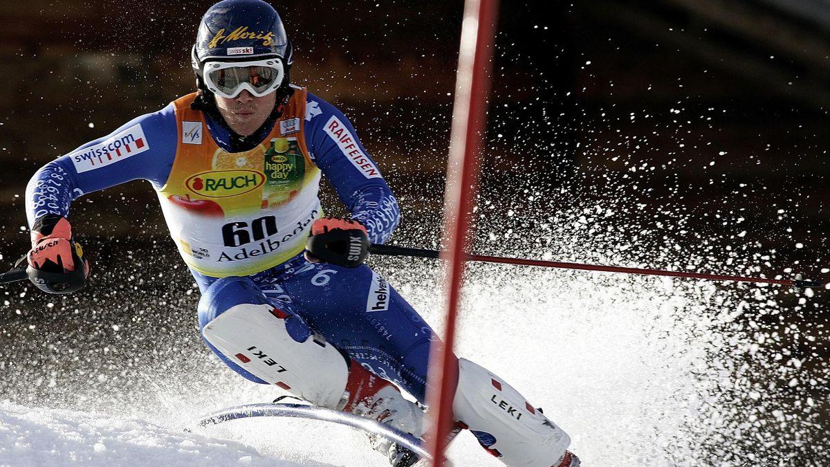 Marc Berthod nello slalom di Adelboden del 2006-2007