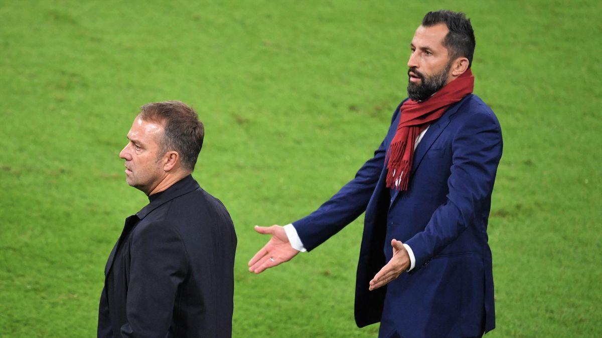 Hansi Flick (l.) und Hasan Salihamidzic (r.)