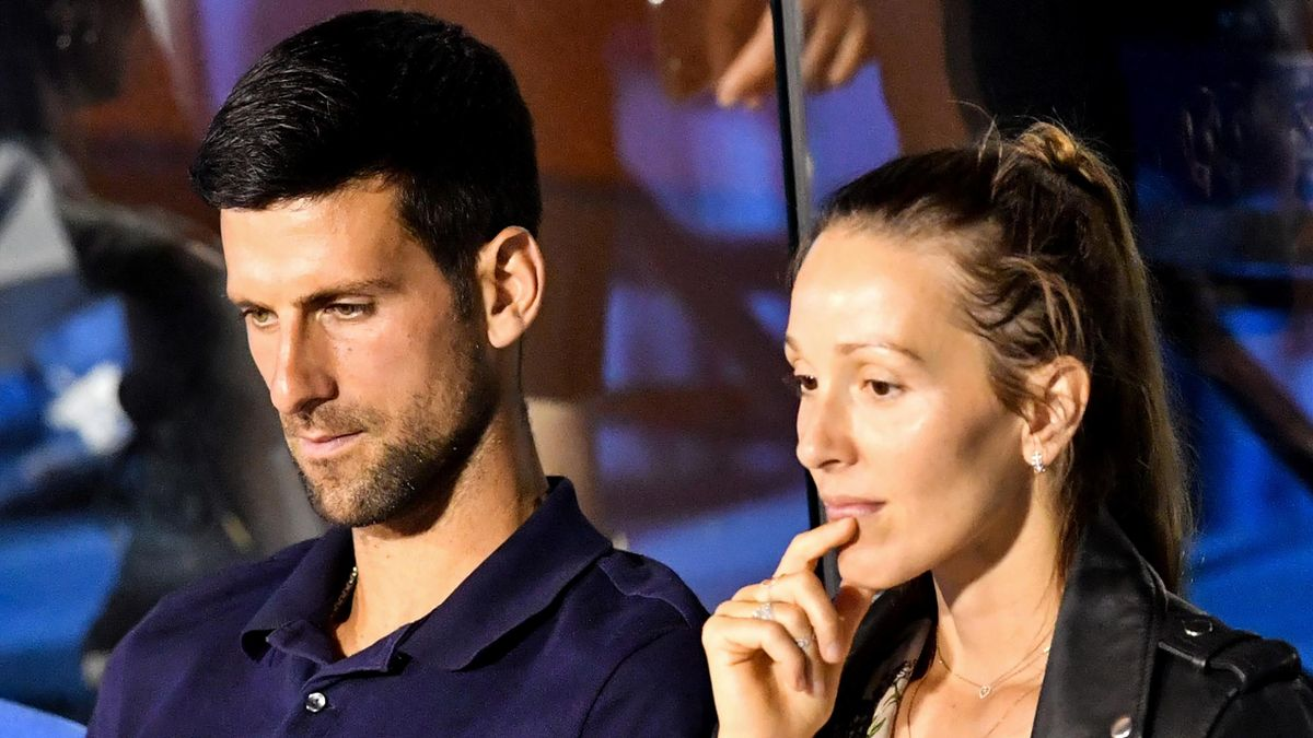 Novak Djokovic, alături de soția sa, Jelena