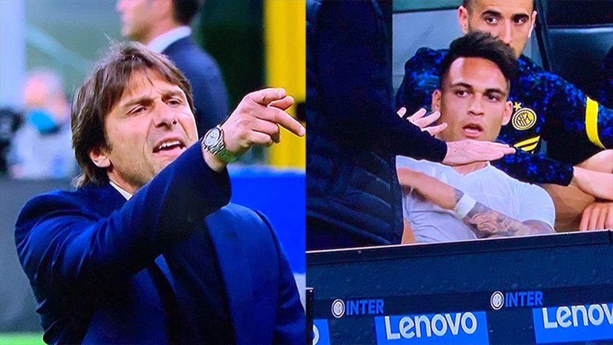 """Serie A, Inter: Lite Conte-Lautaro al momento del cambio: """"Fenomeno del ca**o"""""""