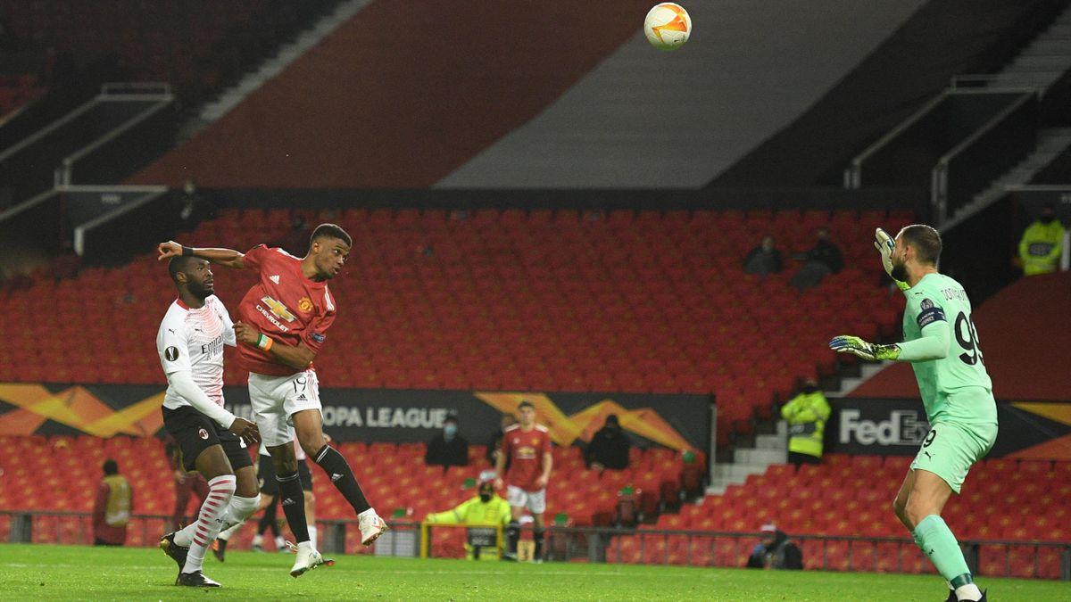 Amad Diallo (Manchester United) buteur face au Milan AC