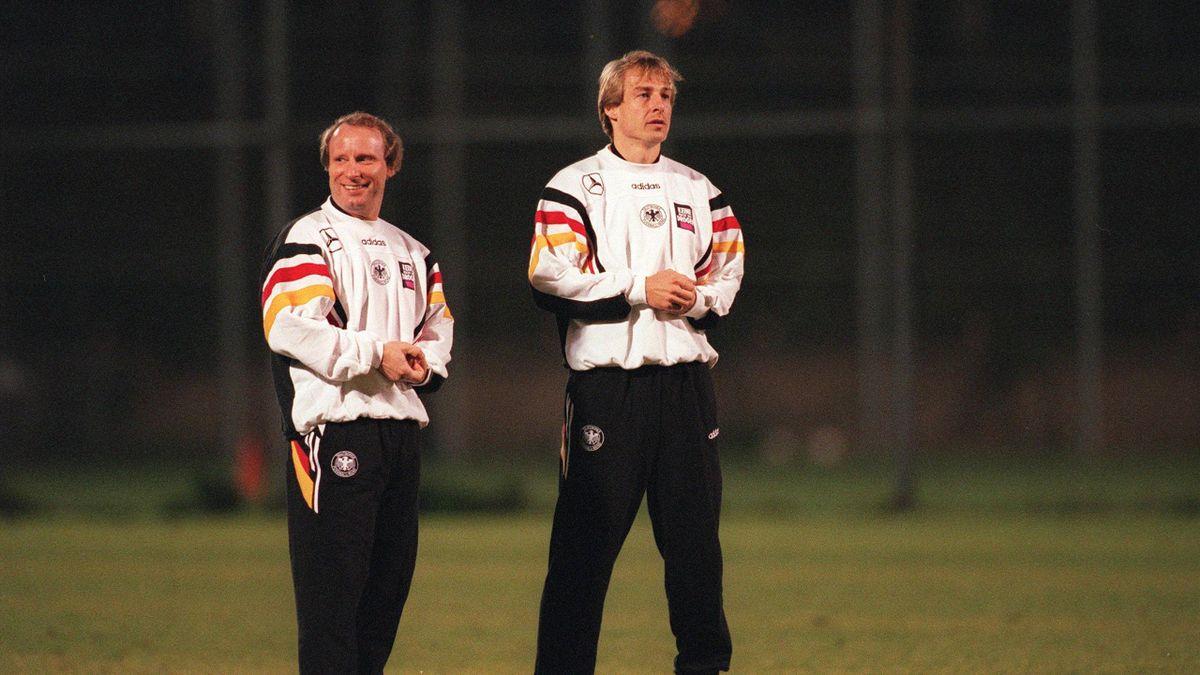 Damals wie heute: Berti Vogts (links) und Jürgen Klinsmann bei der Zusammenarbeit
