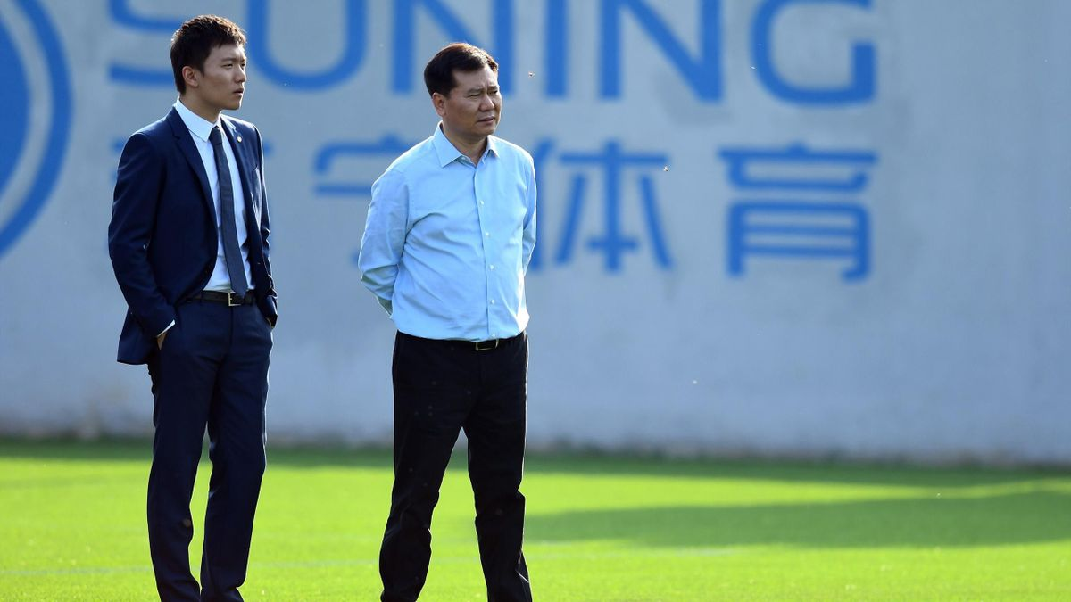 Zhang Jindong insieme a Steven Zhang, Inter, Getty Images