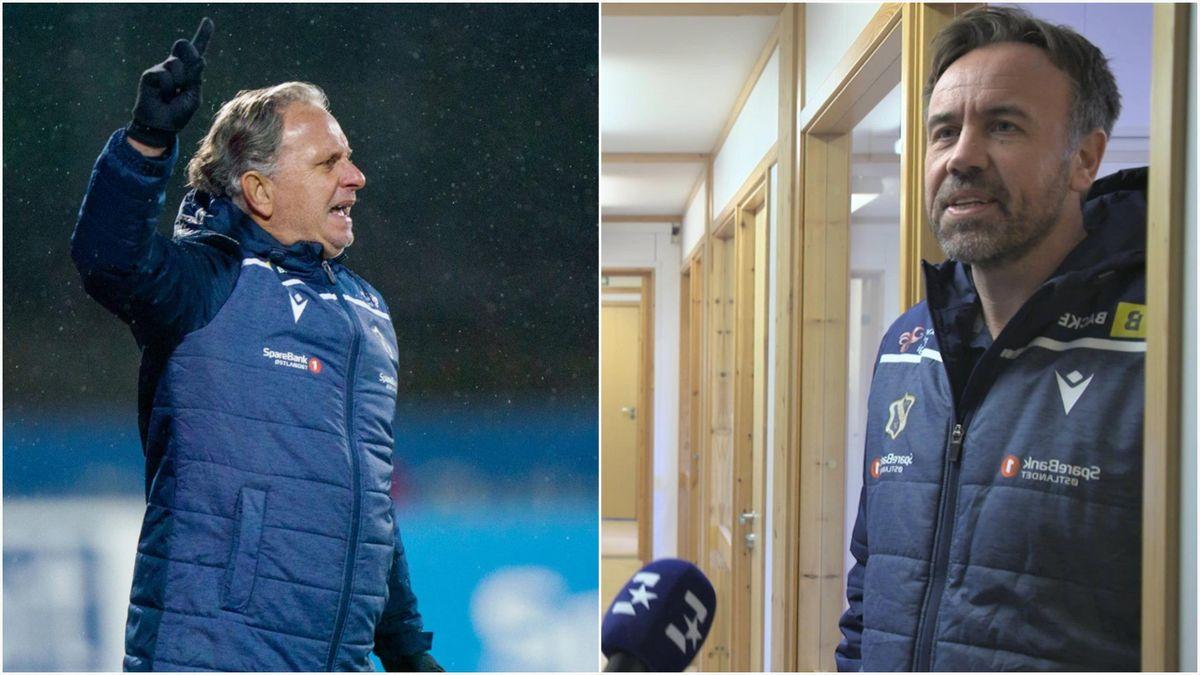 Stabæk-trener Jan Jönsson og daglig leder i klubben, Jon Tunold.