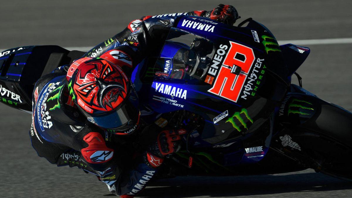 Fabio Quartararo (Yamaha Factory) lors des essais libres du Grand Prix d'Espagne, le 1er mai 2021, à Jérez