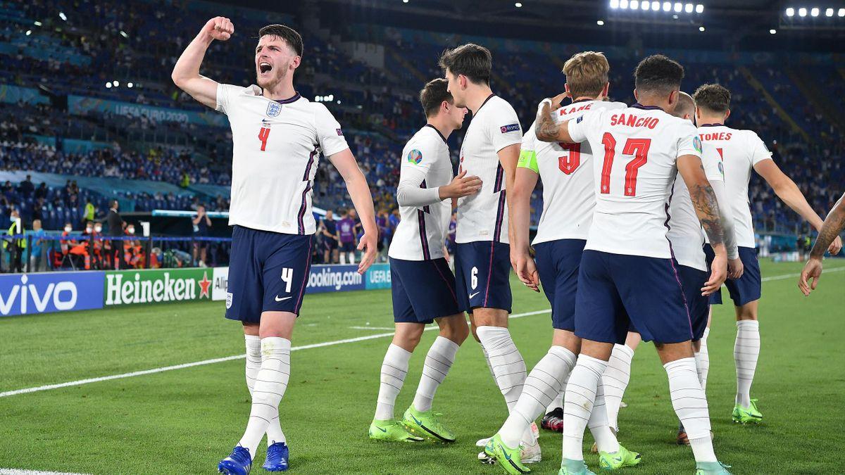 England hatte im Viertelfinale viermal Grund zum Jubeln