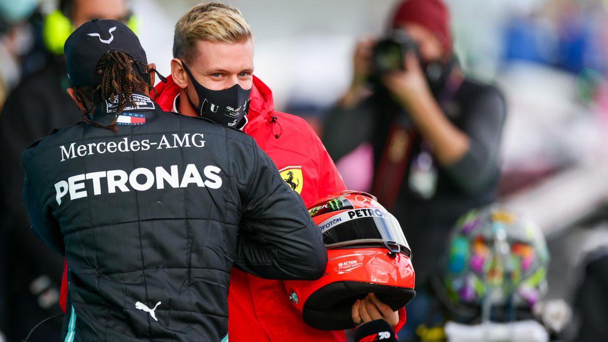 Lewis Hamilton und Mick Schumacher