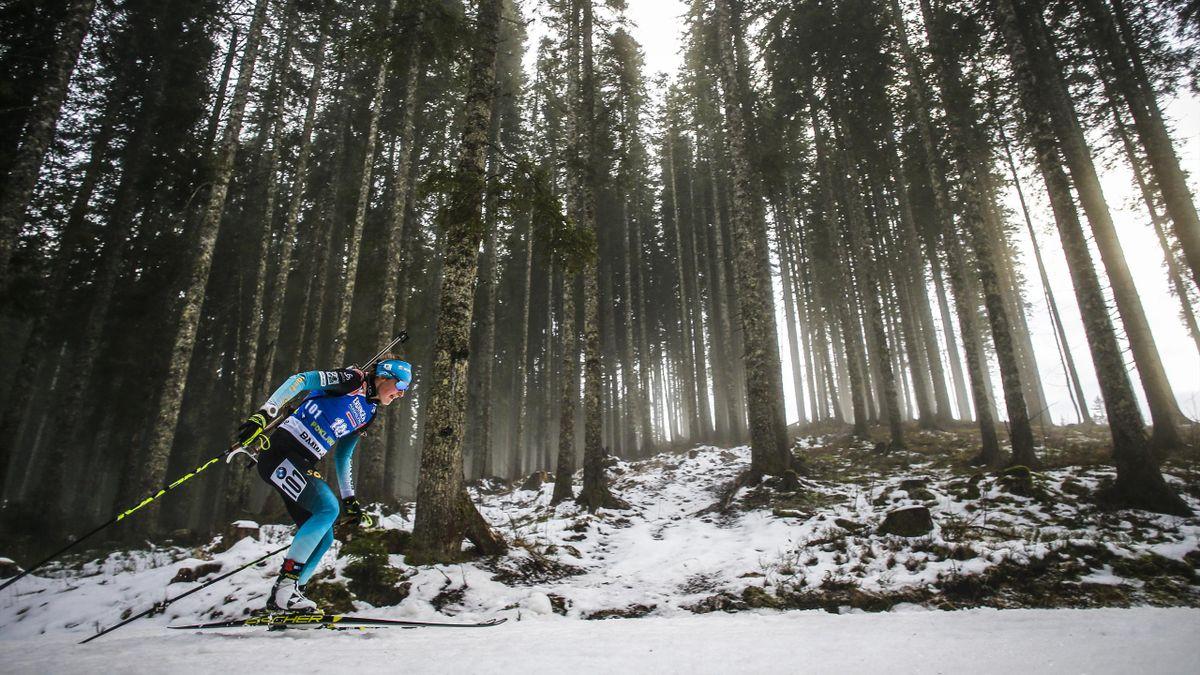 Justine Braisaz lors du 15km à Pokljuka le 6 décembre 2018