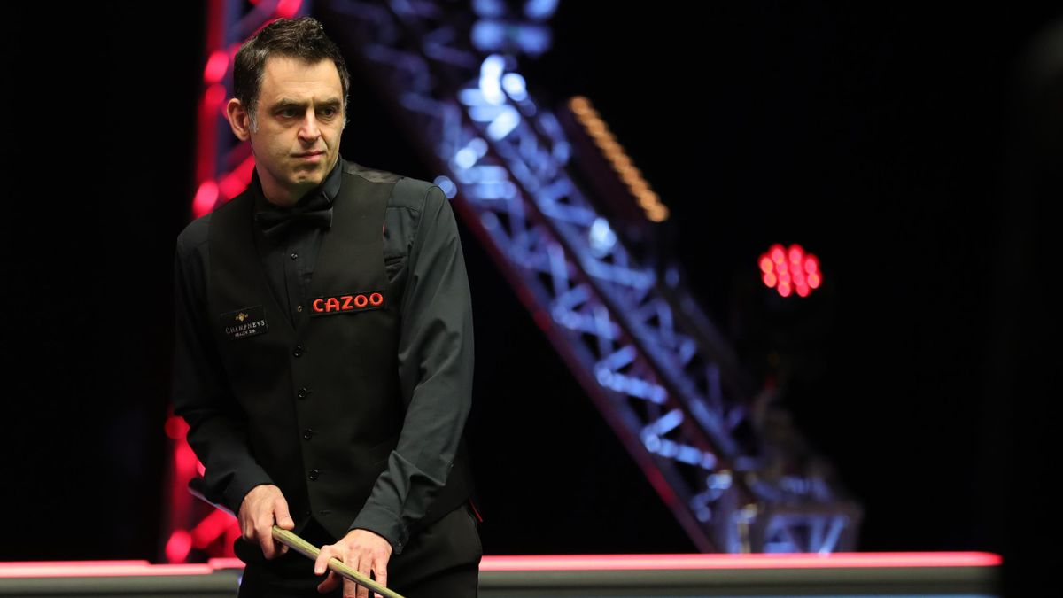 Ronnie O'Sullivan in action against Jack Lisowski in the 2021 Players Championship