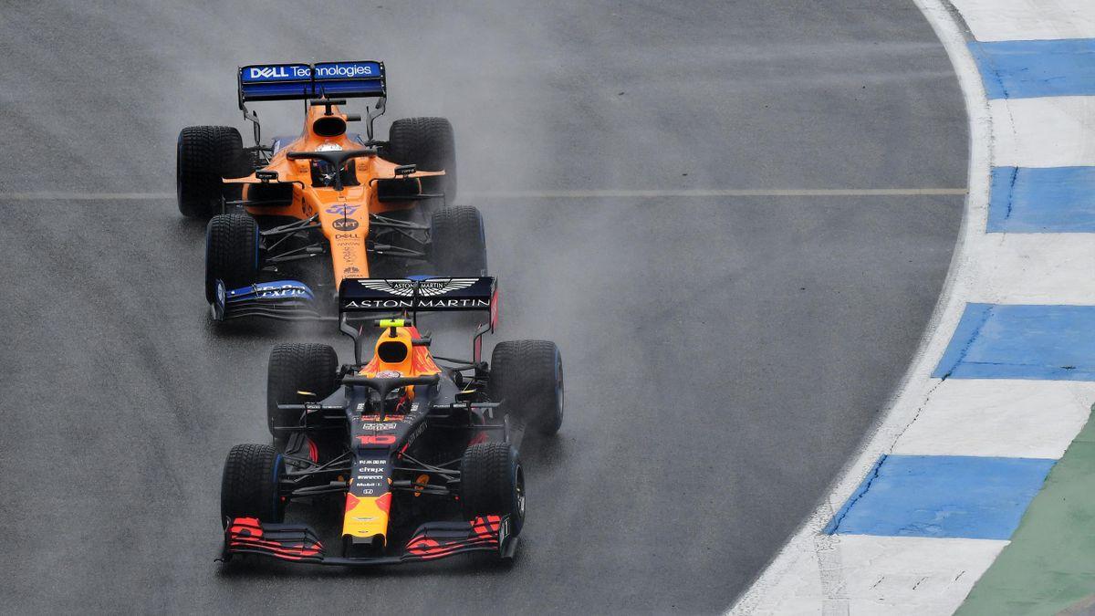 Carlos Sainz (McLaren) y Pierre Gasly (Red Bull)