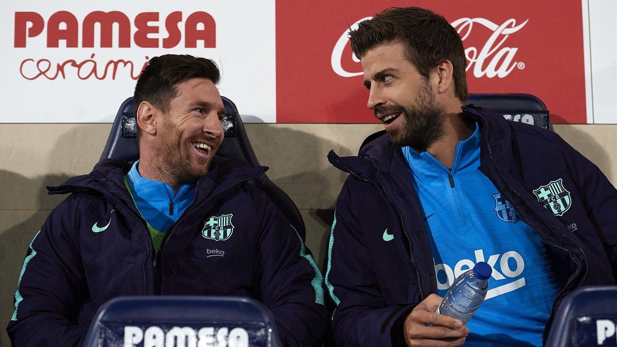 Villarreal-Barcelona Messi y Piqué en el banquillo