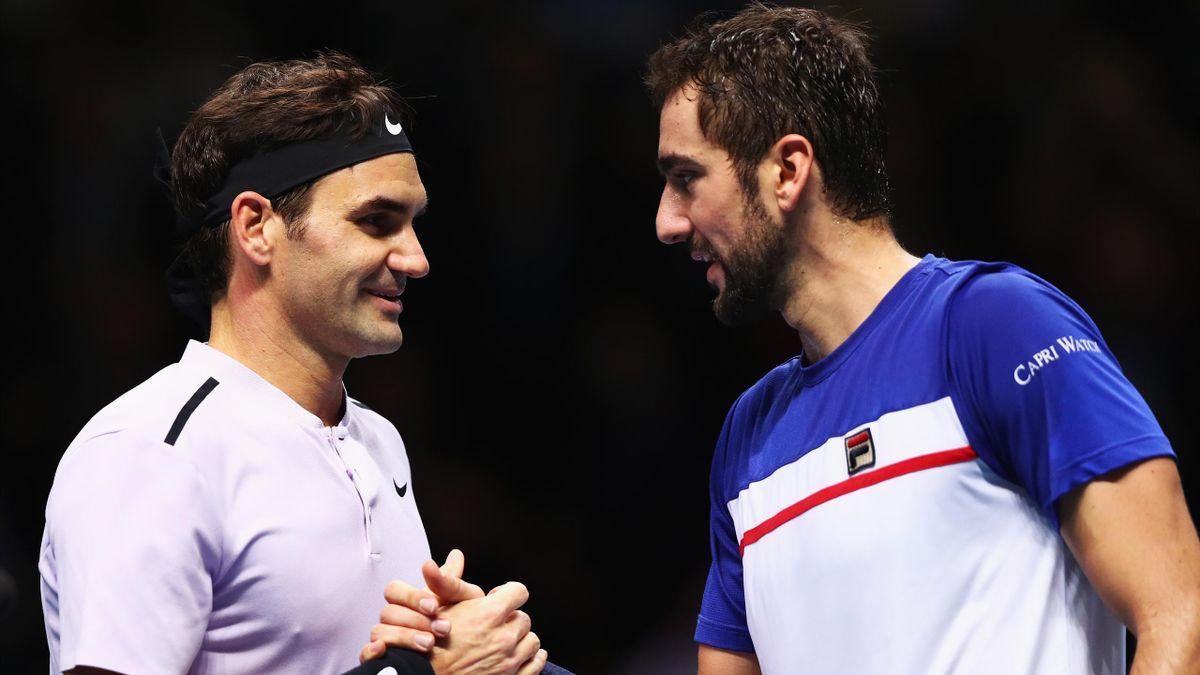 Roger Federer et Marin Cilic au Masters 2017 de London