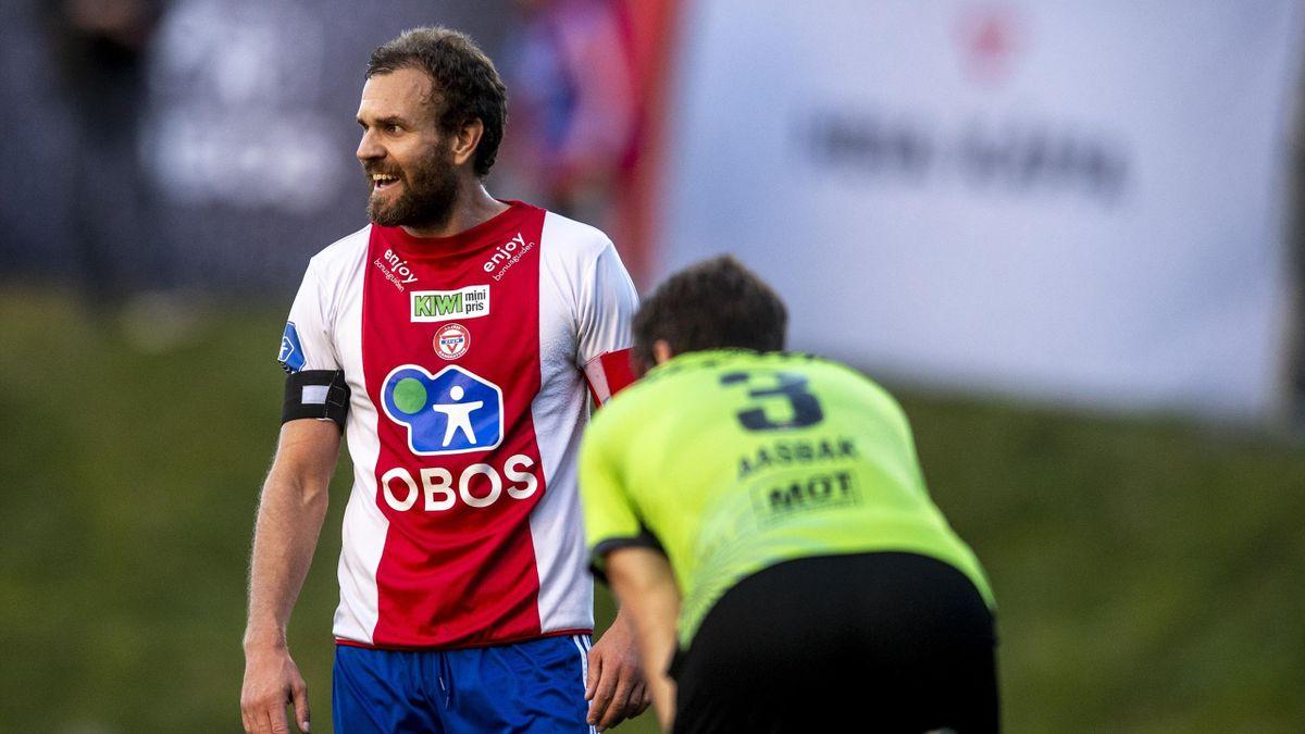 Stian Sortevik i aksjon under cupkampen mot Kristiansund i september.