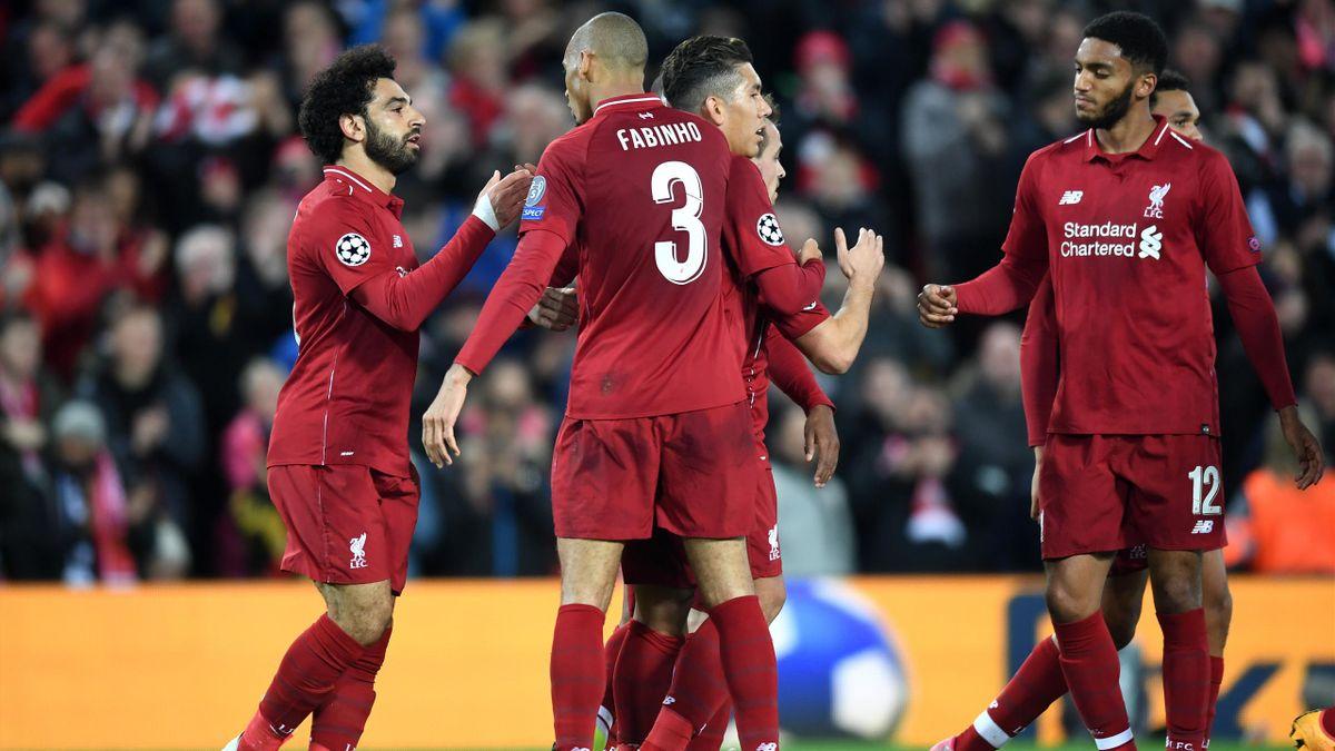 Mohamed Salah   Fabinho   Roberto Firmino   Joe Gomez (FC Liverpool)