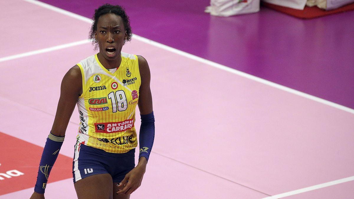 Paola Egonu durante il match di campionato tra Busto Arsizio e Imoco Conegliano - Serie A 2020/2021 - Getty Images