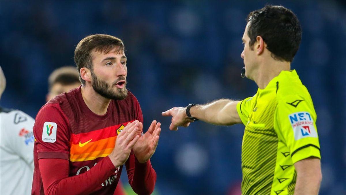 Cristante - Roma-Spezia - Coppa Italia 2020/2021 - Getty Images