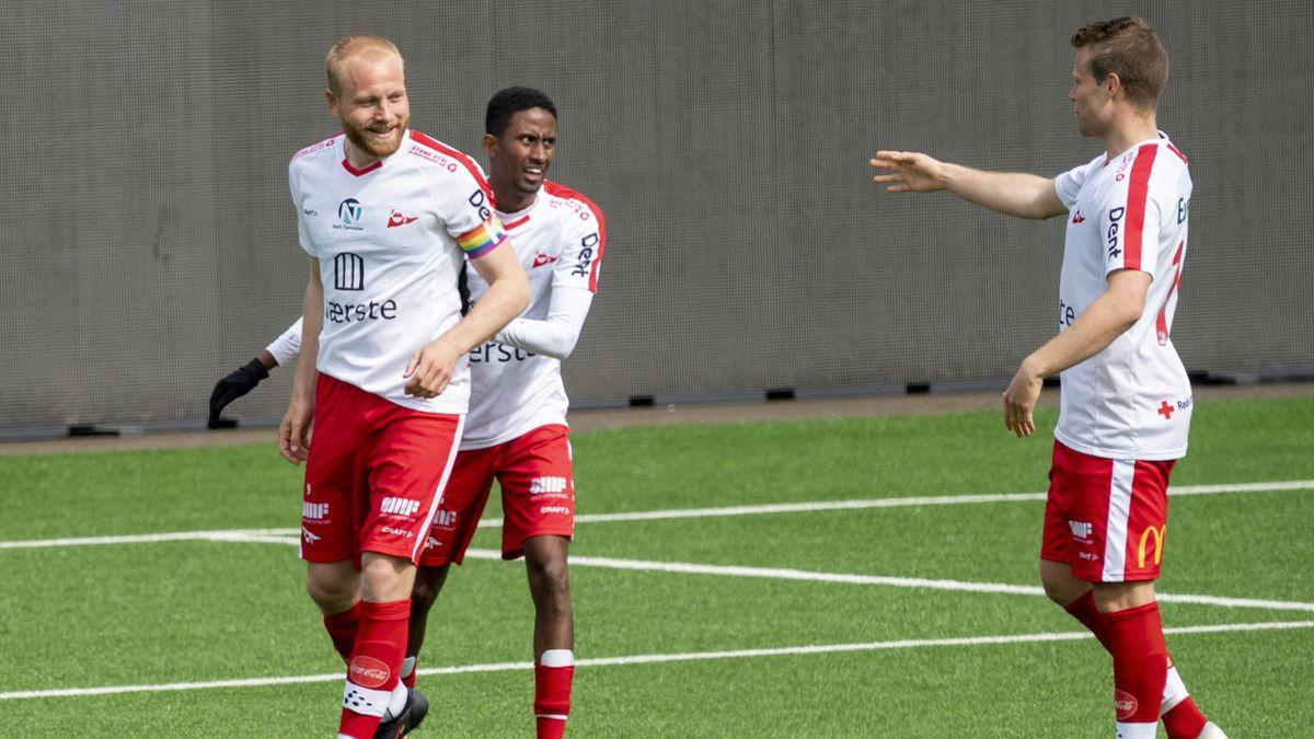 Fredrikstad kunne juble for seier i årets første kamp i OBOS-ligaen 2021.