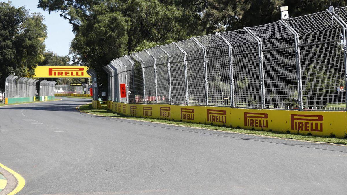 La piste du Grand Prix d'Australie à Melbourne, le 11 mars 2020