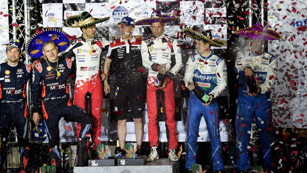 Le podium du Rallye du Mexique 2020