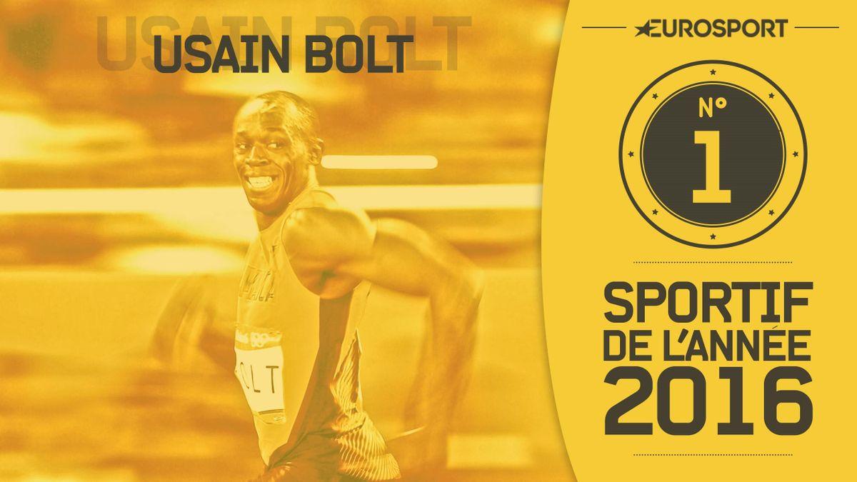 Usain Bolt, athlète de l'année 2016
